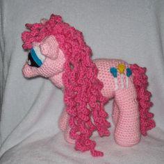 Pinkie Pie Pony  Inspired By My Little Pony by amydscrochet, $30.00