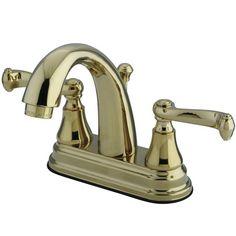 Elizabeth Centerset Bathroom Faucet with Double Lever Handles