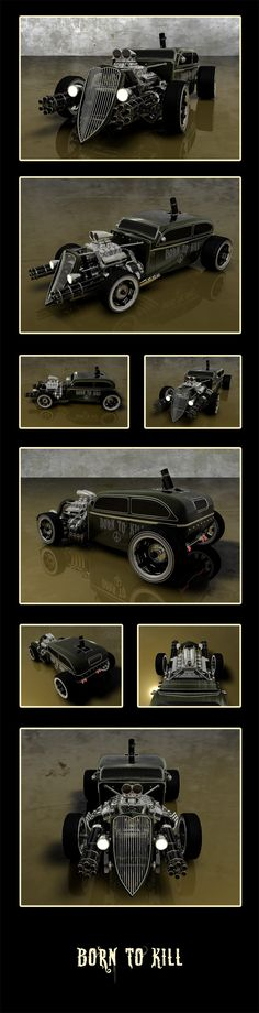 Born to Kill by LadyDeuce on DeviantArt ...maybe a villain drives this - or perhaps The Punisher?