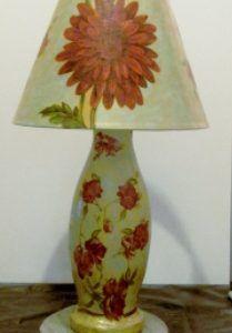 Лампа в технике папье-маше