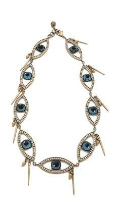 "Lulu Frost Insight Necklace (close-up), 22"", 12"" drop, $432."