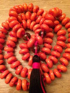 Items similar to Coral & Smokey Quartz Mala on Etsy Smokey Quartz, Roots, My Etsy Shop, Coral, Stars, Sterne, Star