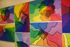 Color wheel lesson - Brookwood elementary art class, shades and tints