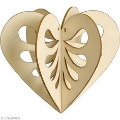 Compra nuestros productos a precios mini Silueta 3D de madera para montar y decorar - Corazón - 10 cm - Entrega rápida, gratuita a partir de 89 € !