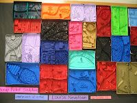 Great Louise Nevelson lesson -- planning to do with 1st graders next week!
