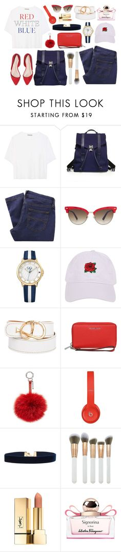 """""""Happy 4th"""" by arrow1067 ❤ liked on Polyvore featuring Vince, Proenza Schouler, Great Plains, Gucci, Tommy Hilfiger, Armitage Avenue, Tod's, MICHAEL Michael Kors, Fendi and Beats by Dr. Dre"""