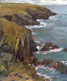 Landscape Paintings of Thomas Paquette. Welsh Coast Pembrokeshire.