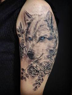My third daughter 🐺❤️ - My third daughter 🐺❤️ - Wolf Tattoo Design, Tattoo Designs, Celtic Wolf Tattoo, Celtic Tattoos, Great Tattoos, Body Art Tattoos, Wing Tattoos, Black And Grey Rose Tattoo, Husky Tattoo