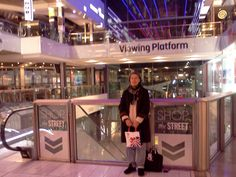 My wife Lesley at Westfield Stratford City