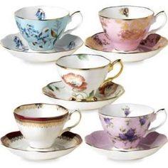 Royal Albert 100 years 10 Piece Teacup and Saucer Set HUNALB21972