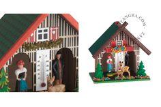 Petite maison météo, hygromètre, thermomètre, chalet météo | Zangra.com