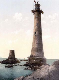 Eddystone Lighthouse, Plymouth, England -- Oh me father was the keeper of the Eddystone Light, and he courrted a merrmaid one fine night, from this union therre came three, two little fishes an' the other was meeee...