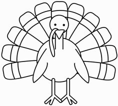 FREE Printable turkey color page Thanksgiving art for free Coloring