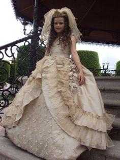 Vestidos de primera comunion elegantes en mexico