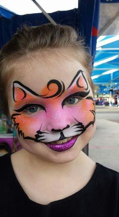 Mark Reid Fast Cat Face Painting Design More and like OMG! get some yourself some pawtastic adorable cat shirts, cat socks, and other cat apparel by tapping the pin! Kitty Face Paint, Mime Face Paint, Girl Face Painting, Face Painting Designs, Painting For Kids, Paint Designs, Body Painting, Face Painting Halloween Kids, Painting Tutorials