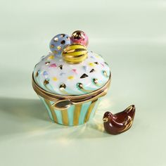 Limoges Easter Eggs Cupcake Box with Chocolate Hen
