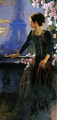 Artist..Richard S. Johnson  Black Dress #2dayslook #jamesfaith712 #BlackDress www.2dayslook.com