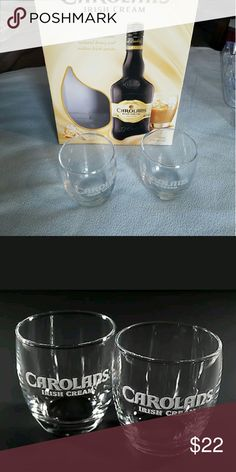 2 Carolans Irish Cream Glass Tumblers Brand new and would make a wonderful Christmas gift too Other