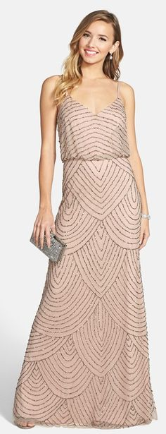 The Perfect Palette: Bridesmaid Looks You'll Love: Embellished Gowns! Bridesmaid Dress Styles, Wedding Bridesmaids, Wedding Attire, Wedding Dresses, Formal Wedding, Wedding Outfits, Red Wedding, Party Dresses, Marchesa