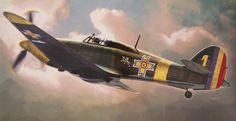 Hawker Hurricane Mk I Romanian Air Force (T. Hoshino, Hasegawa box art)