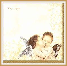 2 PAPER NAPKINS for DECOUPAGE - Vintage Angels #488 by VintageNapkins on Etsy