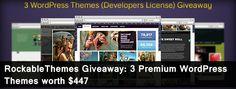RockableThemes Giveaway: 3 Premium WordPress Themes worth $447 Ends 12/28