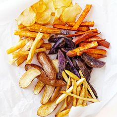 Homemade french fries and dips