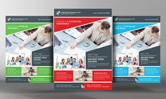 Corporate Business Flyer Template by Business Templates on Creative Market