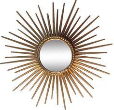 miroir ancien soleil en fer forg rond forme oeil de sorci re tous d origine vendre. Black Bedroom Furniture Sets. Home Design Ideas