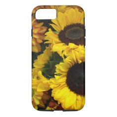 Sunflower Fall Flowers iPhone 8/7 Case - thanksgiving day family holiday decor design idea