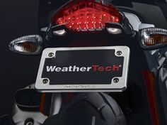Introducing the WeatherTech® solid Billet Aluminum Motorcycle License Plate Frame.  We appreciate the lengths owners go to customize the appearance of their motorcycle and offer this unique and exclusive product to elevate your motorcycle above the rest.
