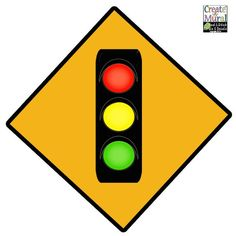 Traffic Light Sign Wall Decal