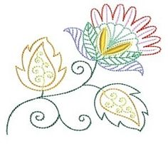 Jacobean Colorwork 2- 2 Sizes | Floral - Flowers | Machine Embroidery Designs | SWAKembroidery.com Bunnycup Embroidery