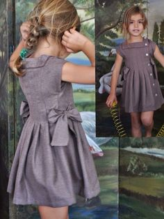 Baby Dress Tutorials, Baby Dress Patterns, Baby Clothes Patterns, Baby Girl Party Dresses, Little Girl Dresses, Girls Dresses, Frocks For Girls, Kids Frocks, Kids Dress Wear