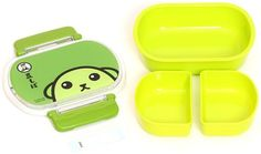 kawaii green Mameshiba bean dog Bento Box Lunch Box