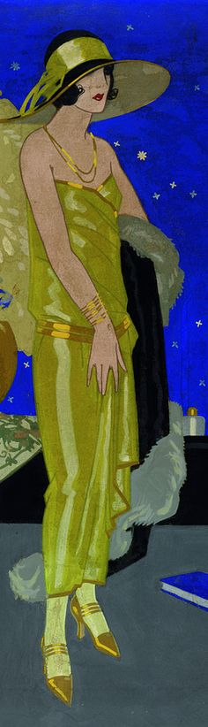 Illustration by Rafael de Penagos (1889-1954) was the artist who introduced illustration Art Deco in Spain. His role in the Spanish illustration was fundamental as the precursor of a new model of woman, modern and stylized.