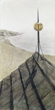 Loved this in person! Andrew Wyeth, Northern Point, Tempera on gesso panel. The Ella Gallup Sumner and Mary Catlin Sumner Collection Fund, © Andrew Wyeth. Andrew Wyeth Paintings, Andrew Wyeth Art, Jamie Wyeth, Nc Wyeth, Le Far West, Tempera, Art For Art Sake, American Artists, Les Oeuvres