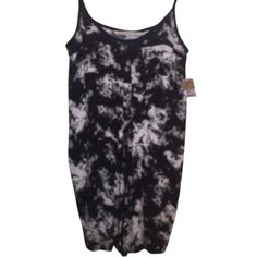 RACHEL ROY BUTTON FRONT ROMPER RACHEL ROY BLK/WHITE ROMPER (shorts) NWT Button front with drawstring waist & adjustable straps. 100% Viscose. M.S.R.P $119.00  -  Comes From A Smoke Free Household. Waist Across - 18 Inches - Inseam - 3 Inches - Rise - 10 1/2 Inches RACHEL Rachel Roy Dresses