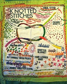 knotted stitches sampler