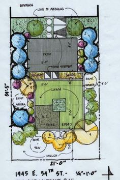 Using a landscape plan document like the one above can help you envision your project. (Photo courtesy of Mind | Space)