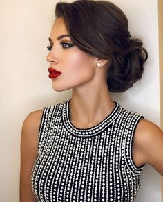 Terrific updo on black hair hair updos Simple Updos For Shoulder Length Hair That Look Amazing Elegant Hairstyles, Bride Hairstyles, Hairstyles Haircuts, Pretty Hairstyles, Hairstyle Photos, Vintage Wedding Hairstyles, Hairstyle Ideas, Hairdos, Hairstyles Pictures