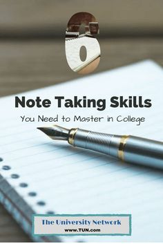 Being able to take good notes is crucial no matter what college degree you're pursuing, but unfortunately note-taking isn't a skill that is generally taught.