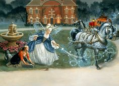 Cinderella's Horses by Ruth Sanderson ~ fairy godmother