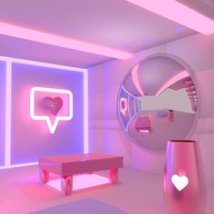 "1,425 Likes, 24 Comments - Jess Audrey (@jessaudreylynn) on Instagram: ""♡♥♡ too lit to quit ♥♡♥ #3d #cgi #led #render #neon #interiordesign #concept #roomdesign…"""