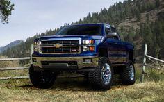 blue lifted Chevrolet #Silverado  #liftedSivleradotruck