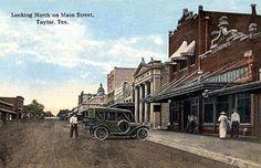 Taylor Texas Main Street Old Postcard