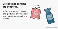 """""""Cologne and perfume are gendered"""""""