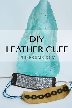 Learn how to make this DIY Leather Cuff using Marisa Paweklo Die Cuts Diy Leather Goods, Leather Cuffs, Diy Jewelry Inspiration, Hacks Diy, Diy Tutorial, Making Ideas, Great Gifts, Jewelry Making, Crafty