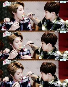 Remember when Chanyeol used to feed this Galaxy hyung? <3