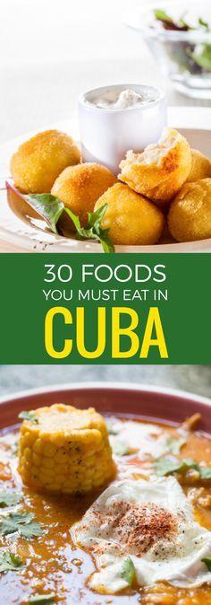 Trienta comida intentrar cuando visitar Cuba y recetas que pledges hacer en un casa